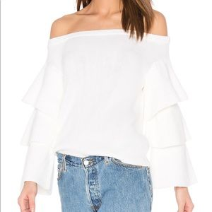 Endless Rose Off Shoulder Tiered Sleeve Sweater